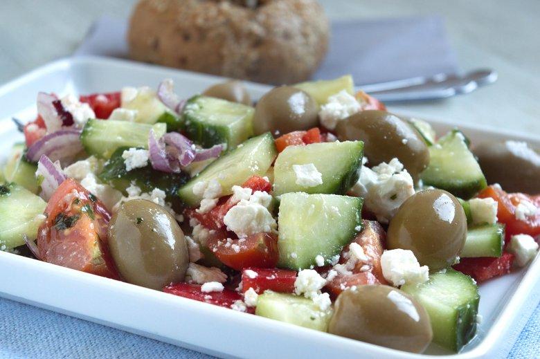 Salat griechisch angehaucht
