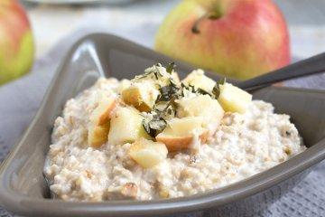 Veganer Apfel-Porridge