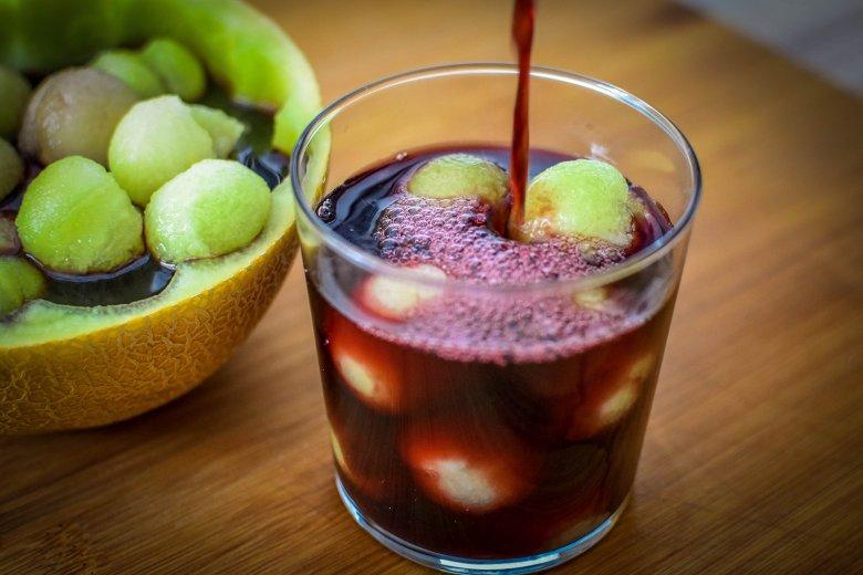 Melone mit Portwein