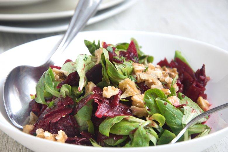 Rote Bete mit Feldsalat