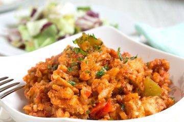 Serbisches-Puten-Reisfleisch