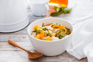 Pfirsich-Quinoa-Frühstück