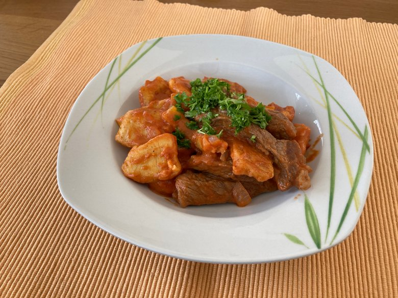Gnocchi-Pfanne mit Rindfleisch