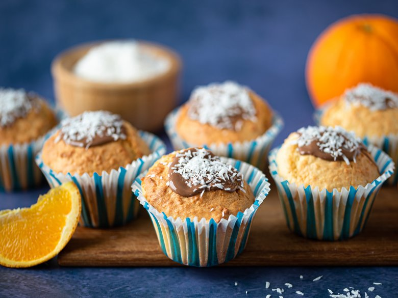 Orangen-Kokos-Muffins
