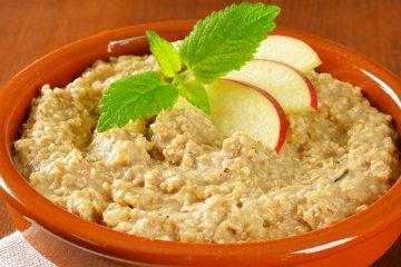 Apfel-Mandel-Porridge