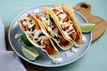 Chipotle Chicken-Taco mit Limettedressing