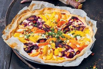 Bunte Karotten-Tarte
