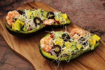 Avocado-Garnelensalat