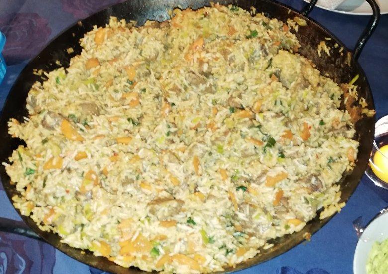Gebratener Reis mit Wildschwein