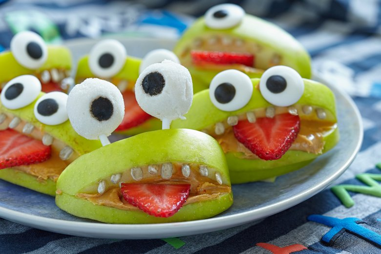 Apfel-Monster zu Halloween
