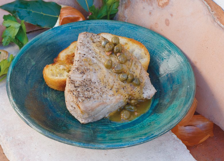 Tonno briaco alla marchigiana - Besoffener Thunfisch