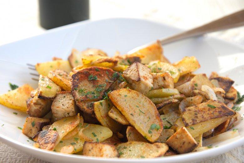Bratkartoffeln mit Räuchertofu
