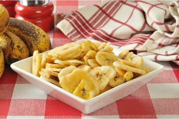 Selbstgemachte Bananenchips