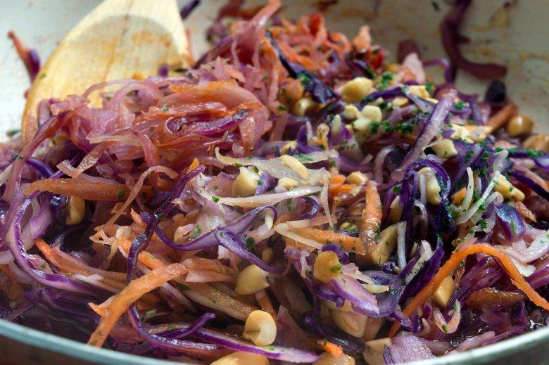 Vegane Gemüsepfanne à la Pad Thai