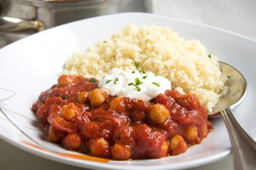 Kichererbsencurry mit Couscous