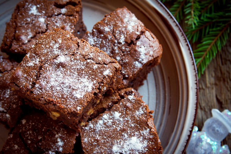 Weihnachts-Brownies