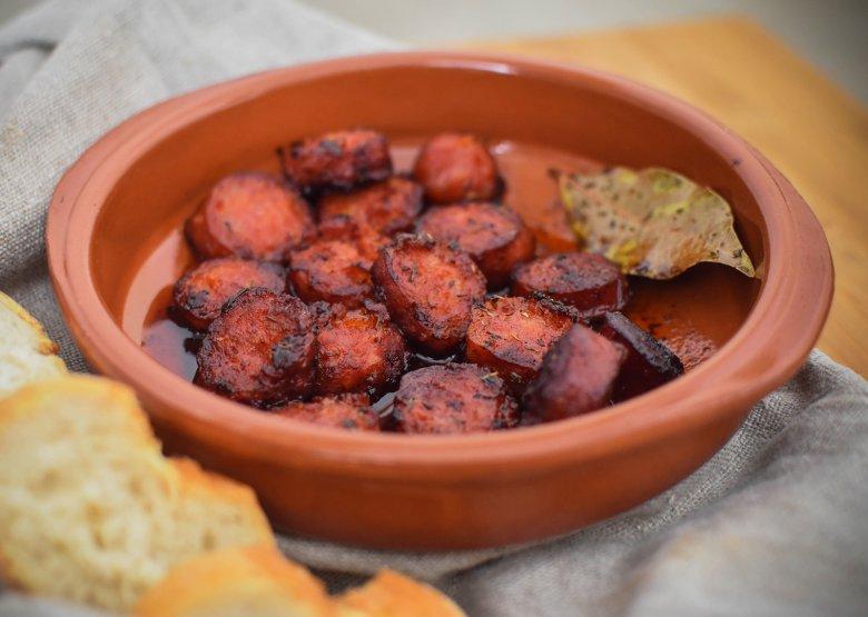 Flambierte Chorizo