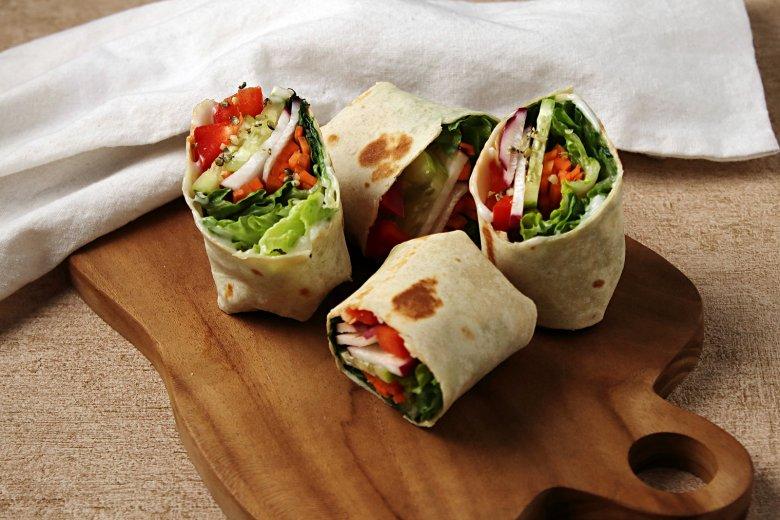 Schnelle vegane Wraps