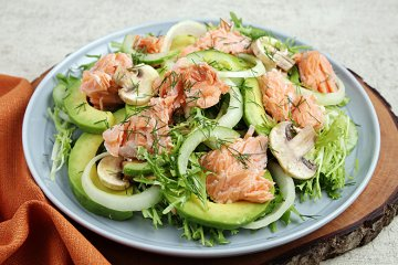 Avocado-Lachssalat
