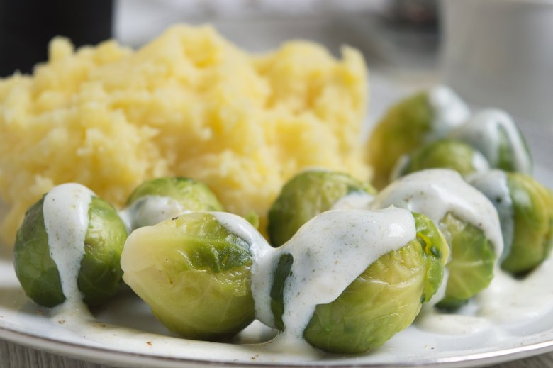 Stampfkartoffeln mit Rosenkohl