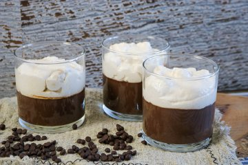 Schokopudding mit Kaffee