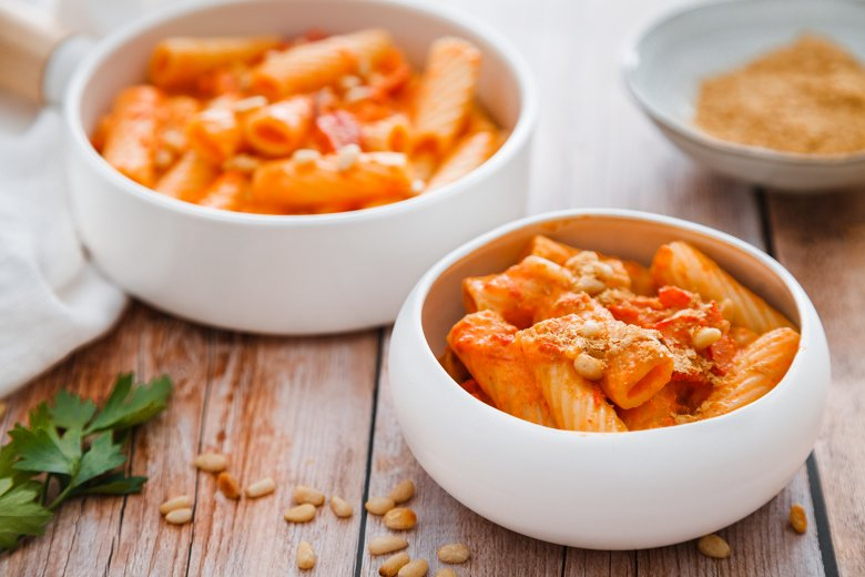 Pasta mit Paprikacremesauce