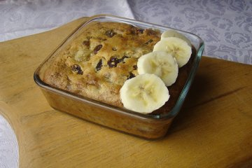 Bananenbrot mit Cranberries