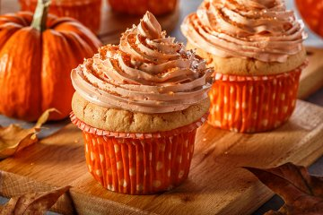 Kürbis-Zimt-Cupcakes