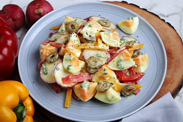 Eiersalat mit Oliven