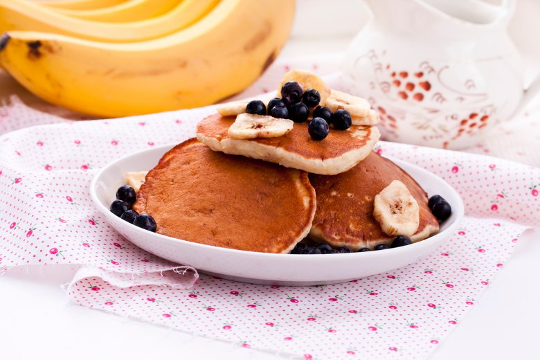 Haferflocken-Bananen-Pfannkuchen