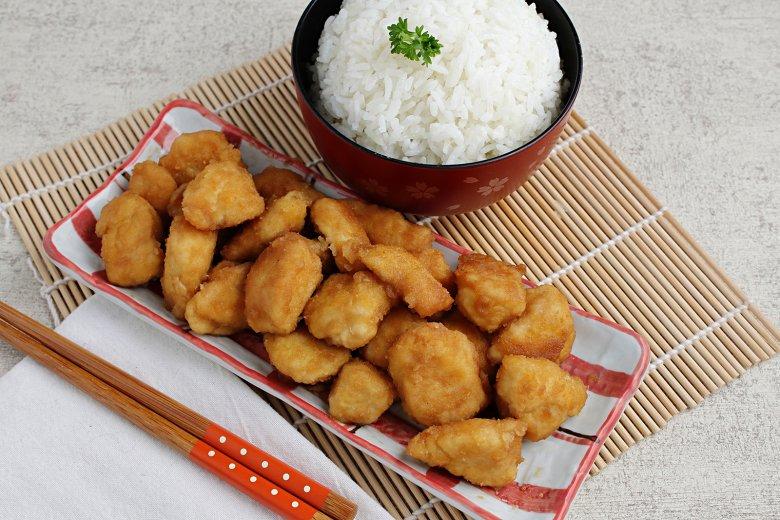 Hühnerfleisch mit japanischer Sauce
