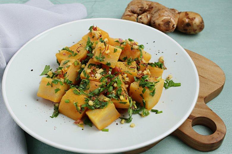 Süßkartoffel-Ingwer-Salat