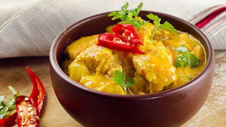 Kalbsgeschnetzeltes in Currysahne