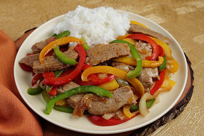 Wok mit Rindfleisch