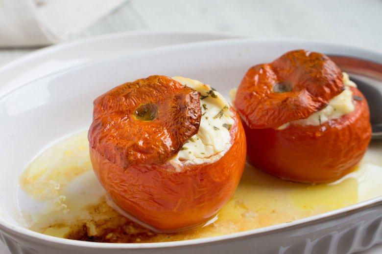 Gebackene Tomaten mit Frühlingszwiebeln