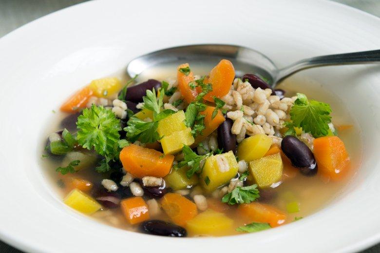 Gemüsesuppe mit Perlgraupen