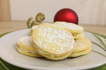 Butterplätzchen mit Vanillecremefüllung