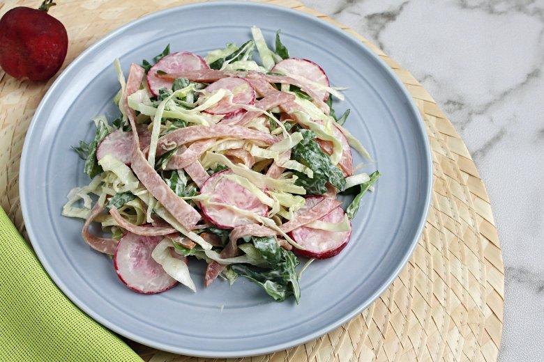 Leichter Weißkohlsalat