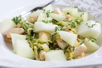 Zucchini-Melonen-Salat