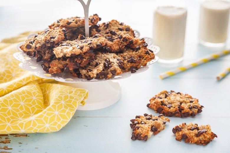 Schnelle Schokocookies mit Bananen