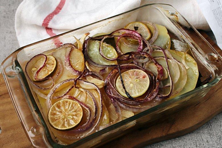 Kartoffelgratin ohne Sahne und Käse