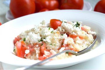 Tomaten-Feta-Risotto