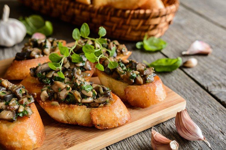 Bruschetta mit Pilzen