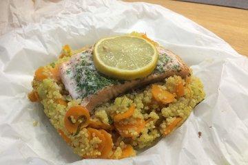 Couscous mit Lachs