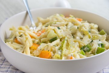 Käsespätzle mit Gemüse