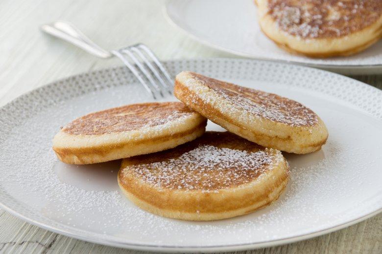 Kleine Kokos-Pfannkuchen