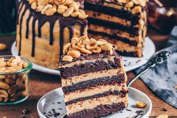 Erdnussbutter-Schokoladen-Torte