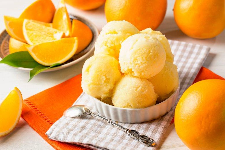 Orangensorbet