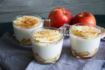 Apfel-Zimt-Panna Cotta