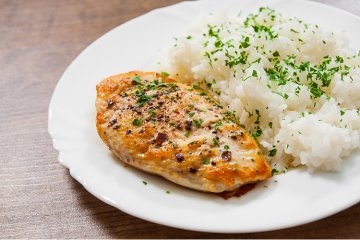 Putenschnitzel mit Reis